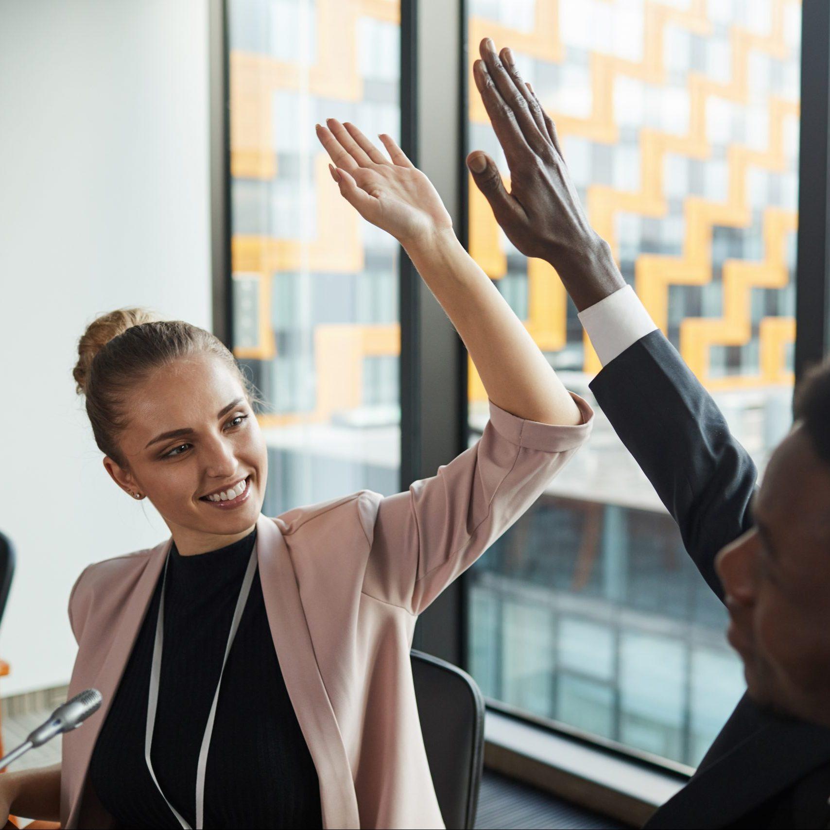 Success in business reaching goals